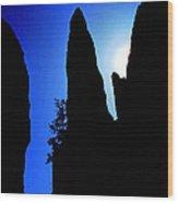 Needle Rock Wood Print