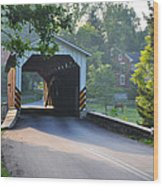 Neff's Mill Covered Bridge Lancaster County Wood Print
