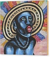 Negrito In Carnival 2 Wood Print