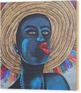 Negrito In Carnival Wood Print