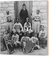 Negro Baseball Wood Print