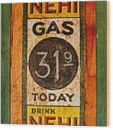 Nehi And Gas Sold Here Wood Print