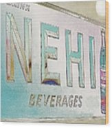 Nehi Ice Cold Beverages Sign Wood Print