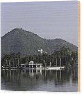 Nehru Garden In The Fateh Sagar Lake In Udaipur Wood Print