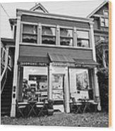 neighbourhood grocery and small deli in west end Vancouver BC Canada Wood Print