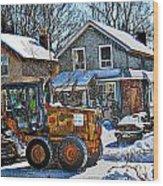 Neighbourhood Snowplough 2 Wood Print