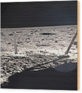Neil Armstrong On The Moon - 1969 Wood Print