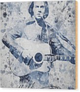 Neil Diamond Portrait Wood Print by Aged Pixel