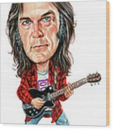 Neil Young Wood Print by Art