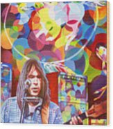Neil Young-crazy Horse Wood Print