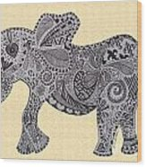Nelly The Elephant Sprinkles Wood Print