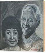 Nelson And Winnie Wood Print
