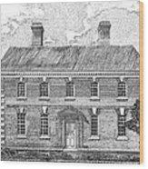 Nelson House In Yorktown Virginia II Of IIi Wood Print