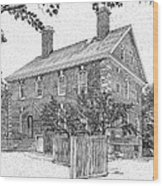 Nelson House In Yorktown Virginia IIi Of IIi Wood Print