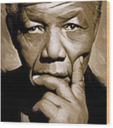 Nelson Mandela Artwork Wood Print