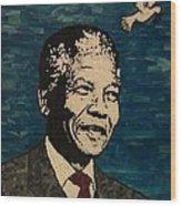Nelson Mandela Man Of Peace Wood Print