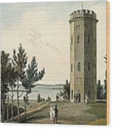 Nelsons Tower, Forres, From A Voyage Wood Print