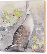 Nene -hawaiian Goose Wood Print