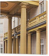 Neo Classical Columns Wood Print by Barbara McMahon