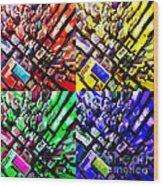 Neo Pop Art Urbanscape New York Sky View Wood Print