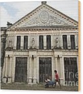 Neoclassic Storehouse Yaxcopoil Mexico Wood Print