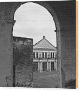 Neoclassical Storehouse And Arch Yaxcopoil Mexico Wood Print