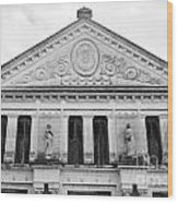Neoclassical Storehouse Facade Yaxcopoil Mexico Wood Print