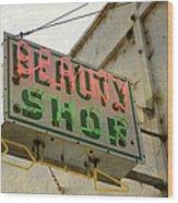 Neon Beauty Shop Sign Wood Print