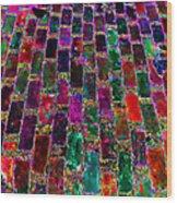 Neon Brick Wood Print