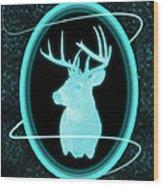 Neon Buck Wood Print