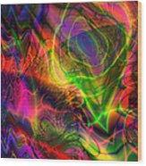 Neon Filigree Wood Print