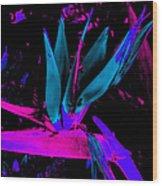 Neon Flower Wood Print