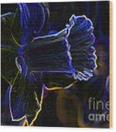 Neon Flowers Wood Print by Charles Dobbs