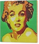 Neon Marilyn Monroe  Wood Print