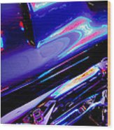 Neon Reflections - Ford V8 Pickup Truck -1044c Wood Print