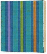 Neon Stripes IIi Wood Print