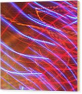 Neon Swell Wood Print