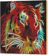 Neon Tiger Wood Print