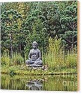 Nepal Pond Wood Print