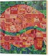 Nepalese Elephant Wood Print