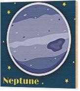 Neptune Wood Print