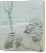 Neptune's Myth Wood Print