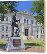 Ness County Courthouse In Kansas Wood Print