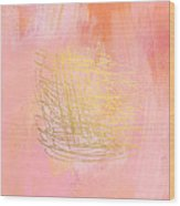 Nest- Pink And Gold Abstract Art Wood Print