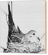 Nesting Mama Wood Print