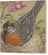 Nesting Robin Wood Print