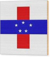 Netherlands-antilles Flag Wood Print