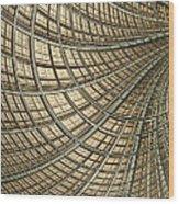 Network Gold Wood Print by John Edwards