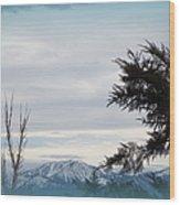 Nevada Blue Wood Print