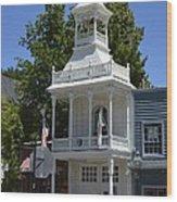 Nevada City Fire House Wood Print